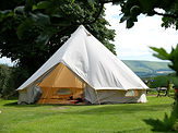 Traditional canvas bell tent in english