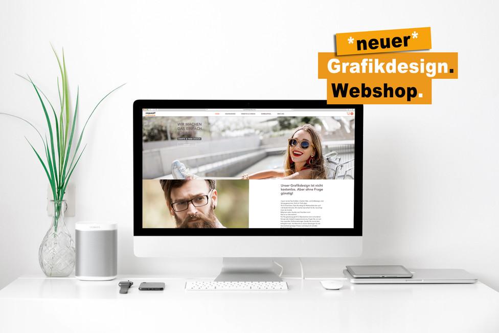 Neuer Grafikdesign Webshop