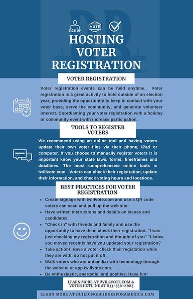 Voter registration infographic