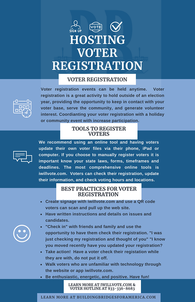 Hosting a Voter Registration
