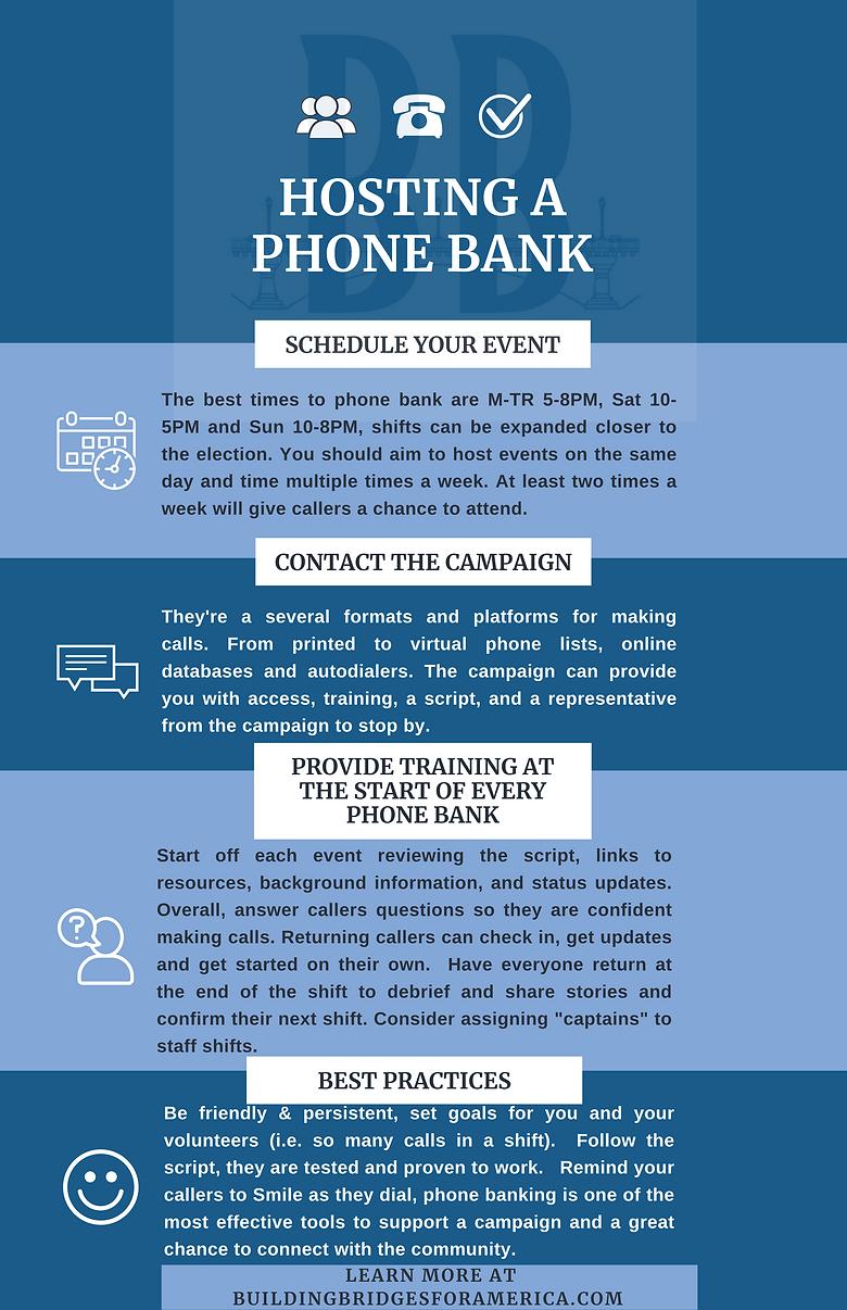 Hosting a Phone Bank
