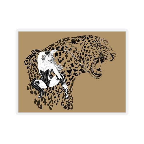 Phoenix the Jaguar Kiss-Cut Stickers - tan