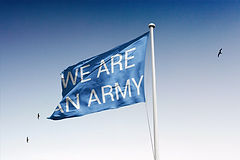 WE ARE AN ARMY flag (Lénie Blue)