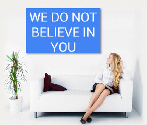 WE DO NOT BELIEVE IN YOU wall mural Pict