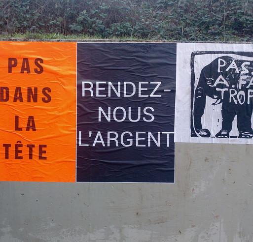 Strasbourg, affichage sauvage, citoyenneté, démocratie, protestation (Lénie Blue)