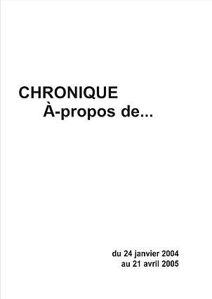 Chronique A-PROPOS DE (billets de presse écris par Lénie Blue)