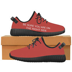 MANUFACTURED PROTEST PRODUCTS 'BE SURE YOU ARE ON THE RIGHT SIDE' unisex shoes (Lénie Blue)
