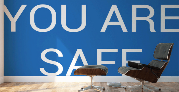 YOU ARE SAFE (blue) by Lénie Blue