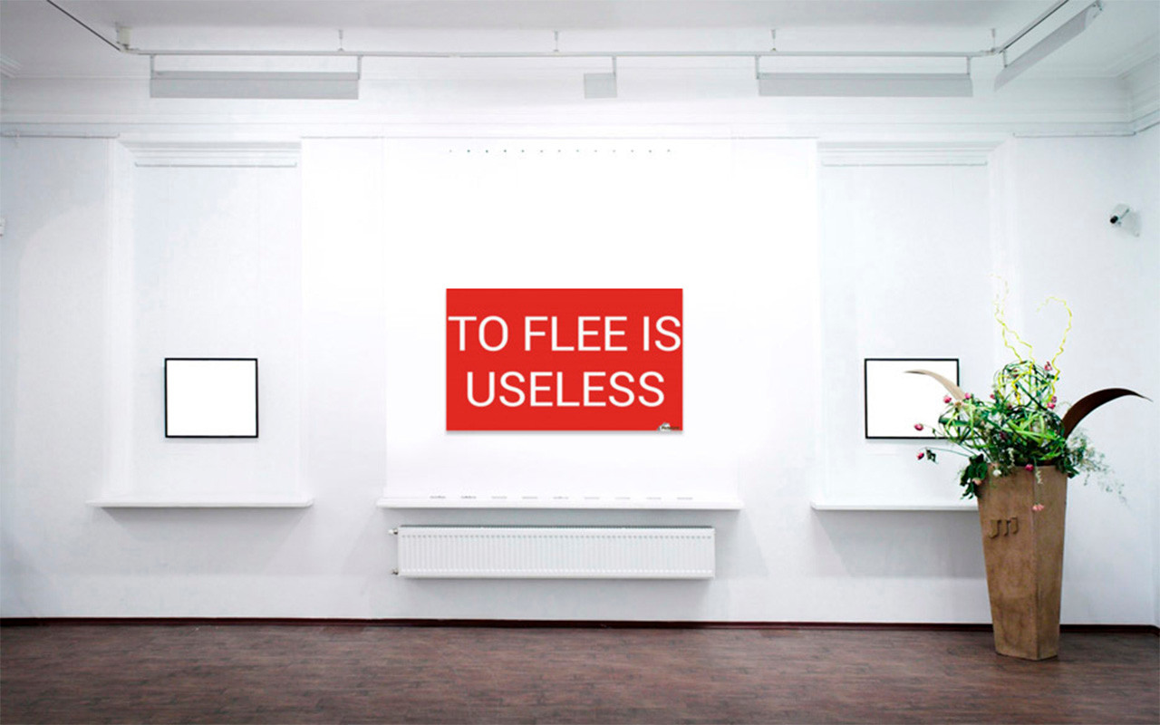 TO FLEE IS USELESS wall mural Pictorem (