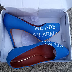 MANUFACTURED PROTEST PRODUCTS 'WE ARE AN ARMY' shoes / high heels (Lénie Blue)