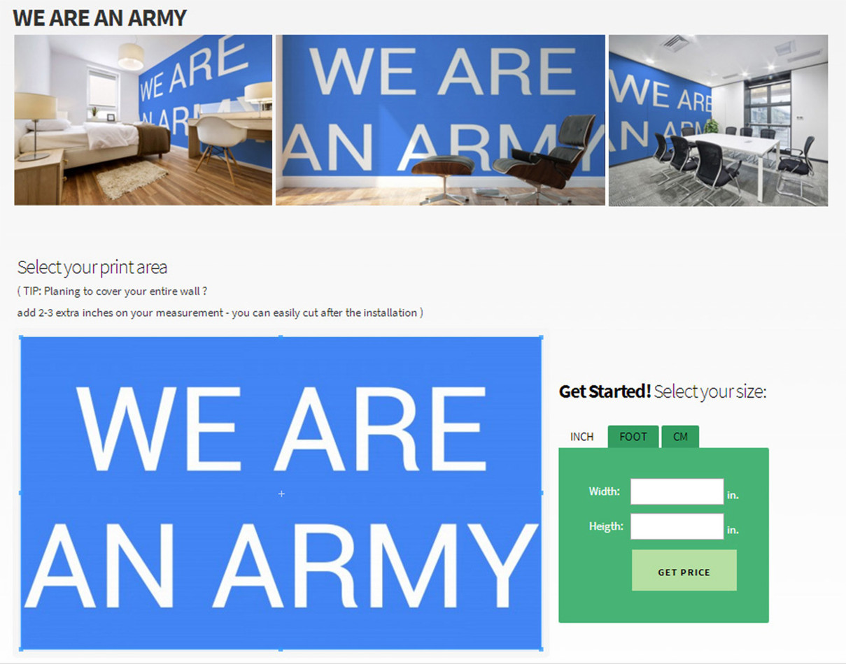 WE ARE ARMY wall mural Pictorem 3 (Lenie