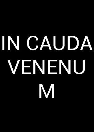 'IN CAUDA VENENUM' affiche, poster (Lénie Blue)