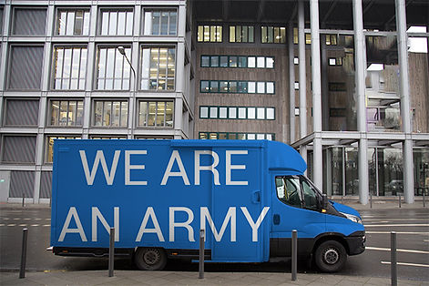 WE ARE AN ARMY manufactured protest products (Lénie Blue)