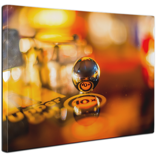 Pinball Art Canvas - Rocky