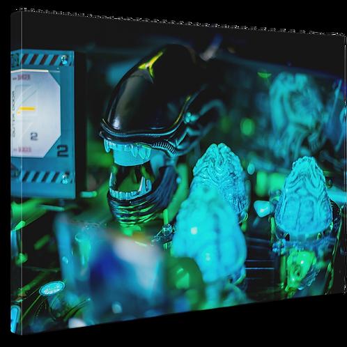 Pinball Art Canvas - Alien