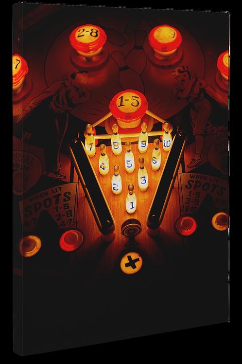 Pinball Art Canvas - Spot Bowler