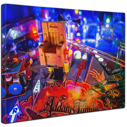 Pinball Art Canvas - Addams Family