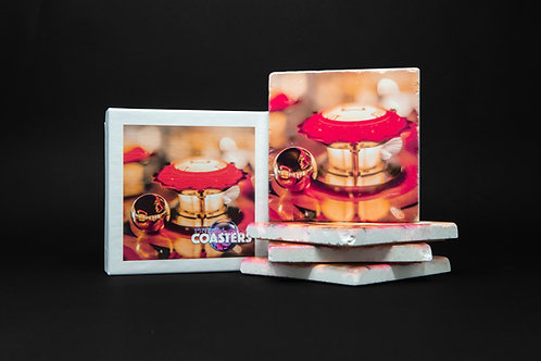 Pinball Coasters - Red & Ball