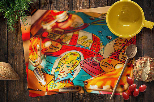 Pinball Placemats - Red Cap