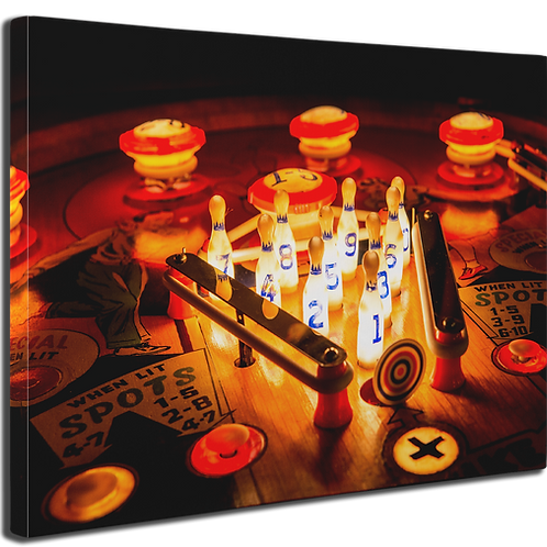 Pinball Art Canvas - Spot Bowler