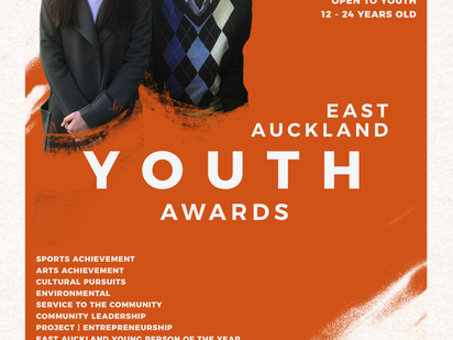 Nominations open for the 2020 East Auckland Youth Awards