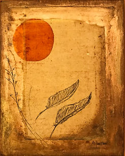Moon and Feathers origional artwork  for sale