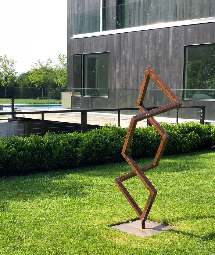Giant Metal Sculpture Modern Mid Century Abstract Large Indoor Outdoor Garden Contemporary Petrykowski Artworks