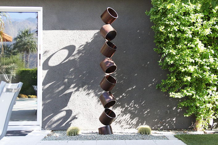 Mid Century Modern Large Metal Sculpture Abstract Contemporary Art Outdoor Garden Palm Springs