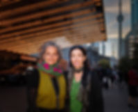 2 people smiling at the Sony Centre