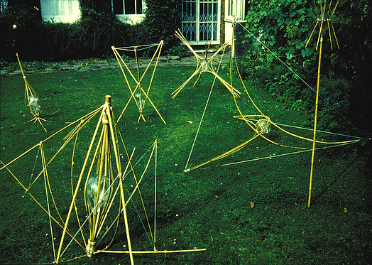 'Surrogates' in the Minories garden, Colchester