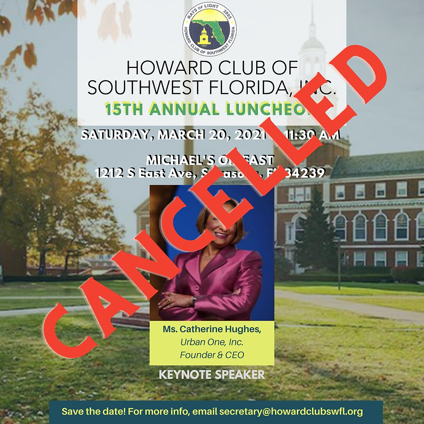 CANCELLED - 2021 Annual Scholarship Luncheon - SAVE THE DATE