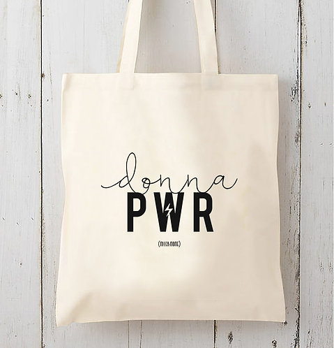 Tote bag Donna PWR / Coton bio épais