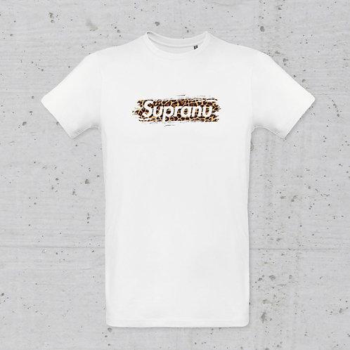T-Shirt mixte coton Supranu léopard