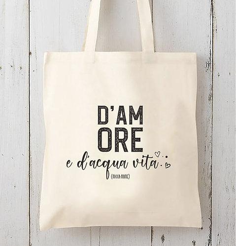 Tote bag D'Amore / Coton bio épais