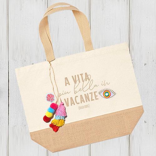 Sac XL Vacanze coton/jute