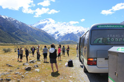 Checking out Mt Cook