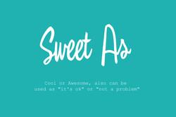 sweet as