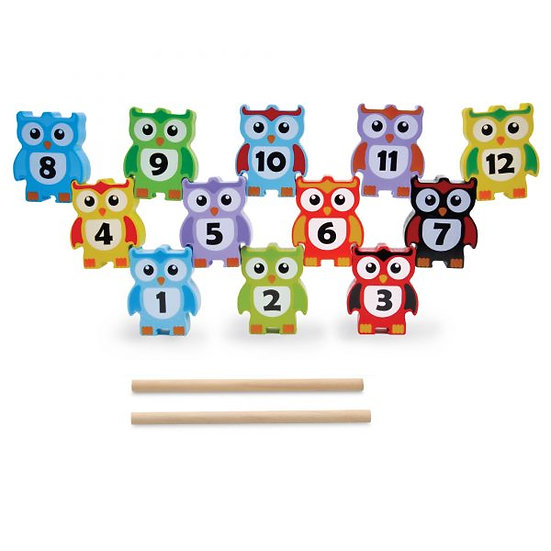 Wooden Stacking Owls by Jumini