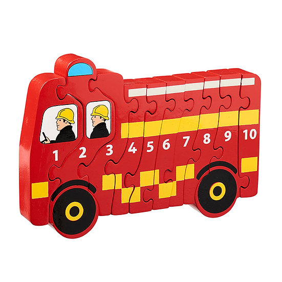 Fire Engine 1-10 Puzzle by Lanka Kade