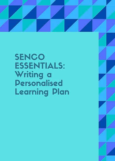 SENCO Essentials: Writing a Personalised Learning Plan