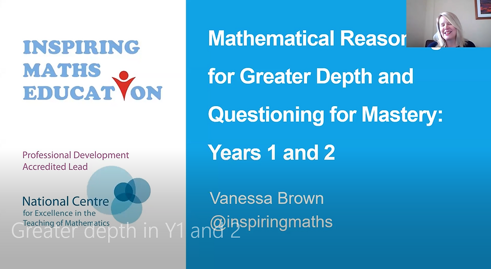 Achieving Greater Depth in Mathematics in Years 1 & 2