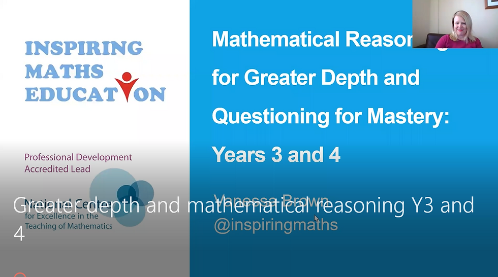 Achieving Greater Depth in Mathematics in Years 3 & 4