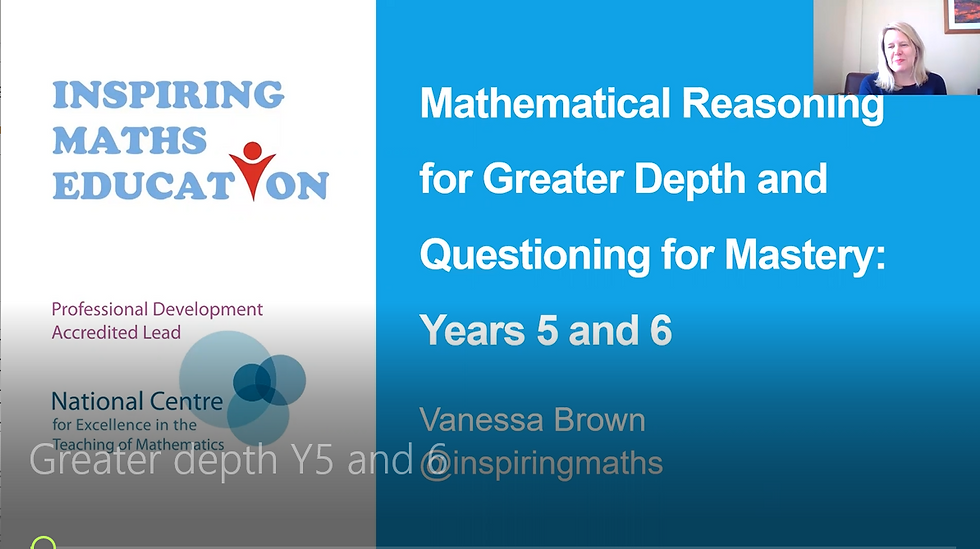 Achieving Greater Depth in Mathematics in Years 5 & 6