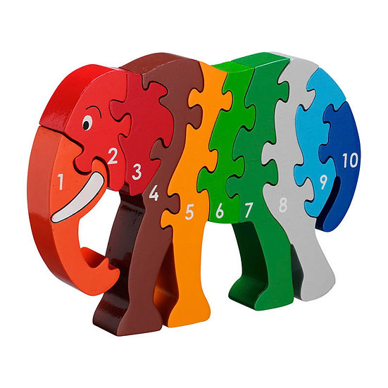 Elephant 1-10 Puzzle by Lanka Kade