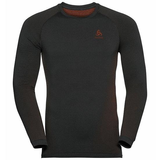 Odlo Mens Performance Warm Long Sleeve Base Layer Top