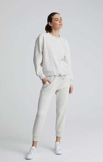 Varley Chaucer Pant - Ivory Cloud