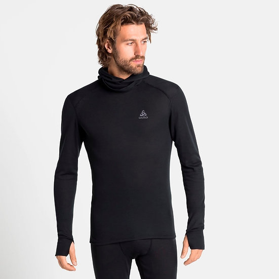 Odlo Men's Active Warm Baselayer Top with Facemask