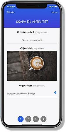 Mobil app för träffa nya vänner