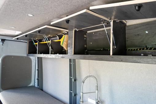 Van Conversion Overhead Cabinets