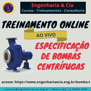 TREINAMENTO ESPECIFICAÇÃO DE BOMBAS CENTRÍFUGAS